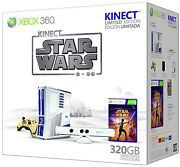 Xbox 360 Game Console Limited Edition Kinect Star Wars Bundle Free Shipping