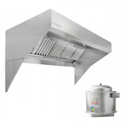 Hoodmart 4and039 X 48 Low Ceiling Sloped Front Exhaust Hood System