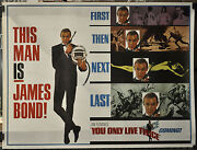 You Only Live Twice 1967 Original 45x59 2-sheet Movie Poster Sean Connery Bond