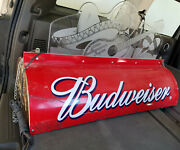 Vintage Budweiser Beer Pool Table Light Sign 80and039s Mariachi Rare Works