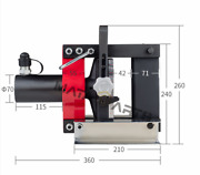 1pc Hydraulic Copper Busbar Bender 10mm Thickness Bending 16t Bend Plate Cb-150d