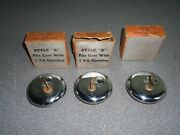 Lot Of 3 New Nos Vintage Victory Chrome Locking Gas Cap Winkenweder And Ladd