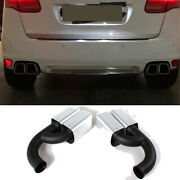 Rear Exhaust Tip Mufflers Tail Pipe Ends For Porsche Cayenne V6 Engine 2011-2014