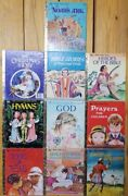 A Little Golden Book Lot Of 10 Bible Books Very Old 1974-1980 Name Pages Blank