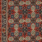 Colefax And Fowler Persian Medallions W Border Fabric 10 Yards Antique Red Indigo