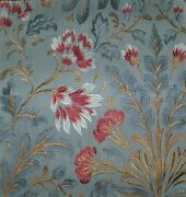 Colefax And Fowler William Morris Inspired Linen Fabric 10 Yards Old Blue Multi
