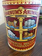Vintage Kitchen Nabisco Biscuit Barnumand039s Animal Crackers Tin Can Empty