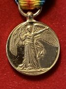Ww I . Union Of South Africa. Miniature Inter-allied Victory Medal. 1919.