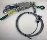 Lug All Lug-all Andfrac34 Ton Cable Hoist Model 1500-25 With 40ft Cable + Extra Cable