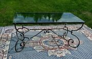Iron Glass Dining Table
