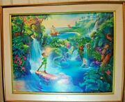 Tom Dubois Disney The Magic Of Peter Pan Canvas Hand Signed 362/2500