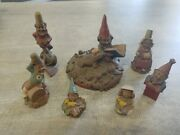 Tom Clark Cairn Studio Lot Of 7 Gnomes Set Signed 1984 - 1988 Mint Cond
