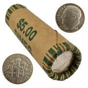 [lot Of 50] Roosevelt Dimes Roll 1946-1964 90 Silver