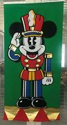The Disney Store Mickey Nutcracker Banner 1990and039s Beautiful Fabric Display