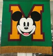 The Disney Store Mickey Mouse Banner 1990and039s Beautiful Fabric Display Wow