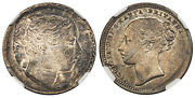 Great Britain. Victoria 1839-1887 Nd Ar Shilling. Ngc Xf45 Mint Error Brockage