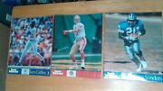 Vintage Sports Illustrated Lot Of 3 Posters 16 X 20 Griffey Jr Montana And Sanders