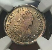 Chile 1810 So Fj Silver 1/2 Real - Ngc Au53 - Top Pop 1/0 - Rare Date