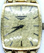 Mens Longines 14k Gold Case And Band Cal 528 17 J Running Keeping Time .