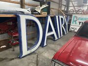 """Vintage Large 71"""" Tall Dairy Barn Farm Light Sign Vintage. From Louisville Ky"""