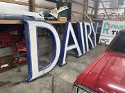 Vintage Large 71andrdquo Tall Dairy Barn Farm Light Sign Vintage. From Louisville Ky
