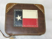 Montana West Genuine Leather Book / Bible Cover With Mw Cloth Storage Bag New