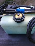 Johnson Evinrude Omc Oil Tank 1.8 Gallon With Brackets And Hose