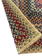 Capel Rugs Portland Wool Blend Rectangle Braided Area Rug Light Gold 100