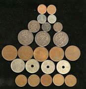 Vintage Lot Of Norway / Sweden Coins Variety Of Ore Coins Various Dates