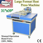 Us 31x39 Large Format Textile Thermo Transfer Heat Press Machine 220v