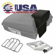 Unpainted Razor Tour Pack Trunk Luggage For Harley Davidson Touring 1997-2020