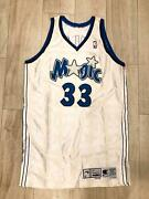 Grant Hill Authentic Game Issued Orlando Magic Signed Jersey - White Rare
