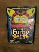 Furby Boom Pink And Black Stripped With Box And Inserts In Drawer In Box