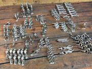 """Lead Metal Toy Vintage Soldiers 1.5"""" -3"""" Tall Unpainted And Unshaven Lot Of 150 +"""