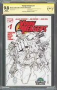 Young Avengers 1 Wizard World La Sketch Variant Cbcs 9.8 Auto Jim Cheung 2005