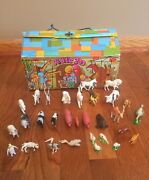 Vintage Ideal Toy Corp Kiddie Zoo Playset With Animals