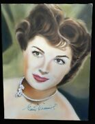 Esther Williams Signed 12x16 One Of A Kind Hand Painted Canvas Jsa Authenticated
