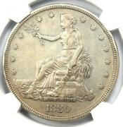 1880 Proof Trade Silver Dollar T1 Coin - Certified Ngc Proof Xf Detail Pf Pr
