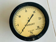Vintage Ashcroft Ship Boat Exhaust Gauge Dial Large Glass Nice