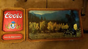 Vintage Coors Beer Lighted Sign Taste The High Country Used Mancave Bar Rare