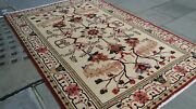 Oriental Antique Handmade Persian-carpet Wool 3m X 2m Cream