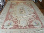 Handmade Vintage French Aubusson Tapestry
