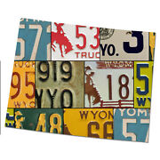 Wyoming License Plate Map Cut Sign, The Cowboy State License Plates, Map Sign