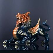 16and039and039bronze Fine Copper A Pair Of Auspicious Beast Money Drawing Room Decoration