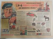 Proctor And Gamble Ad P And G Pirate Contest From 1935 Size 11 X 15 Inches