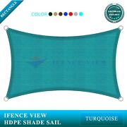 Ifenceview Turquoise/green 17and039x17and039-17and039x48and039 Rectangle Sun Shade Sail Patio Awning