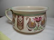 1871 Vintage Brownfield And Son's Stoneware Chamber Pot Yesso