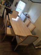 Travertine Marble Kitchen Table Mid Century Modern With Chairs Pickup Only