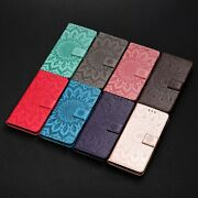 For Samsung Galaxy 3d Embossed Sunflower Flip Wallet Pu Leather Phone Case K79