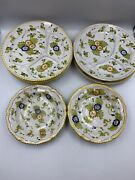 5 Ardalt Italy Italian Pottery 10 3/8 Divided Plates And 2 8bowls Vintage